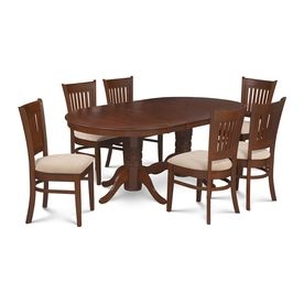 Mu0026D Furniture Somerville Espresso Dining Set With Oval Dining Table  Somi7 Esp C