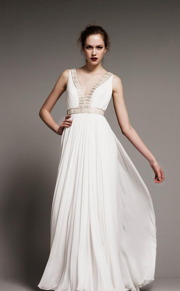 10 images about the greek wedding dress on pinterest for Greek inspired wedding dress