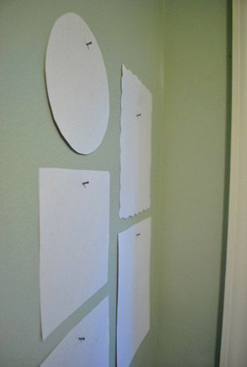 92746073550389885 DUH! Easy way to hang pictures on the wall.. trace the frame...poke a hole where the nail needs to go...tape to the wall...then hammer in the nail where the hole is...tear the paper down and voila! your nail i sperfectly in place...the FIRST time!