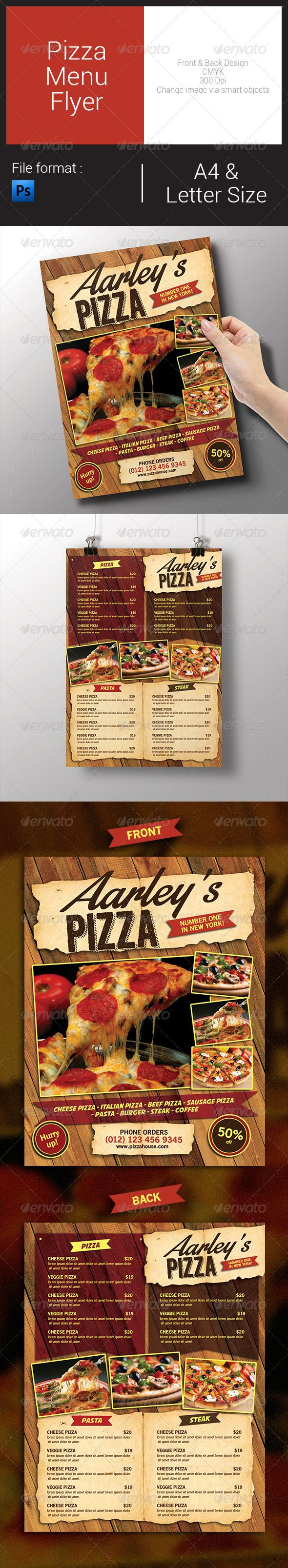Lost pizza cafe menu