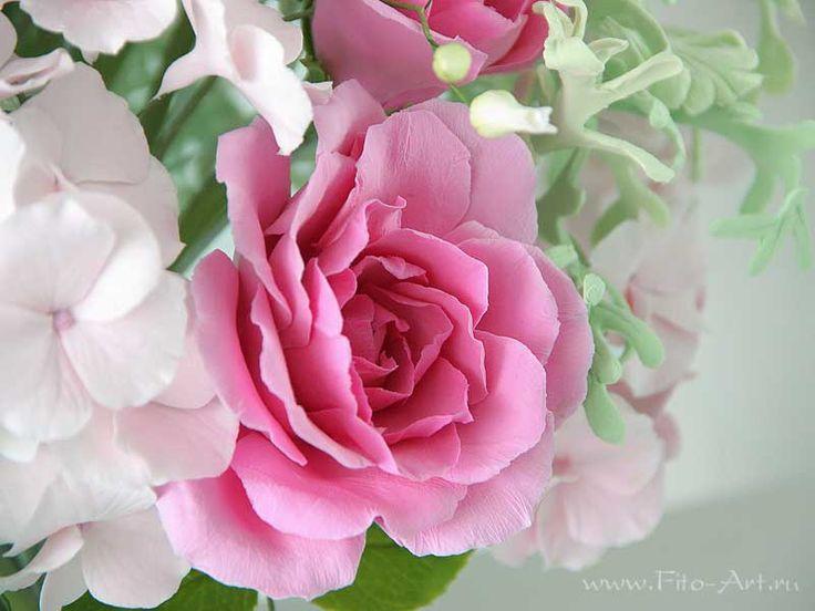 Лучшие работы : Букет Primavera. Цветы из полимерной глины - Fito Art