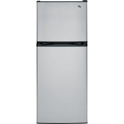 GE 11.6 cu. ft. Top Freezer Refrigerator in Stainless Steel
