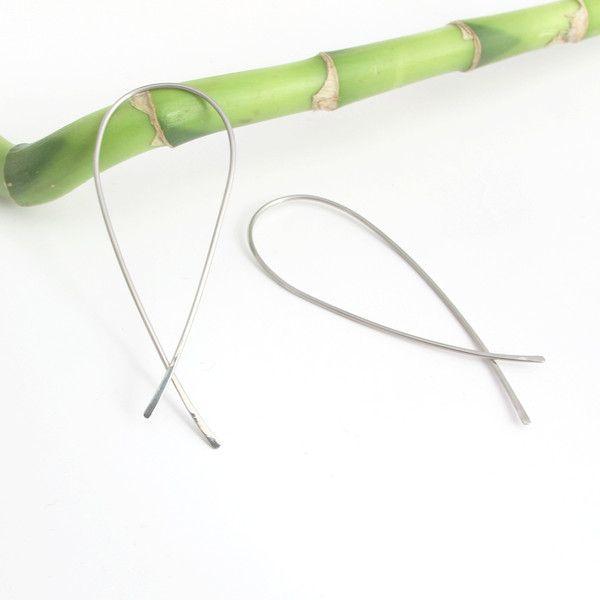 Minimalistyczne kolczyki koła - LotkaArt - Kolczyki długie