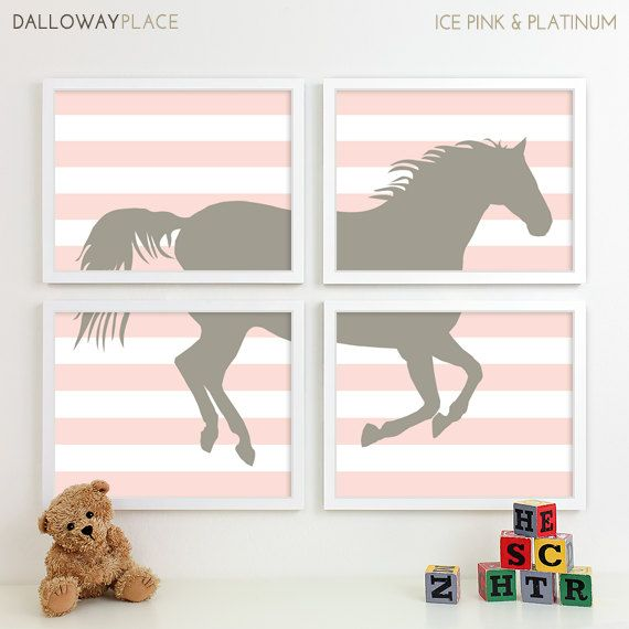 Horse Nursery Art Farm Animal Nursery Print by DallowayPlacePrints