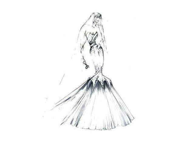 314 best Wedding Gown Sketches images on Pinterest