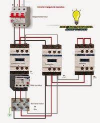 Esquemas eléctricos: Circuito de potencia estrella triangulo