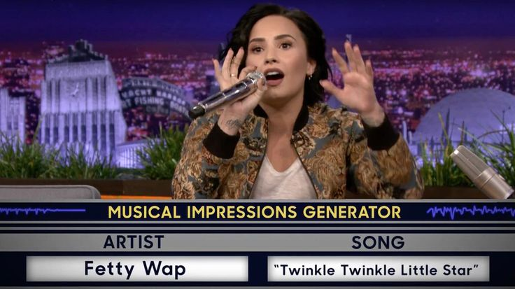 Watch Demi Lovato Imitate Fetty Wap, Christina Aguilera on 'Tonight Show' #headphones #music #headphones