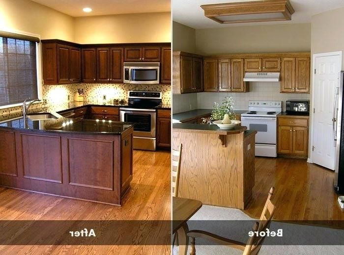 Updating Oak Kitchen Cabinets Before And After | Kitchen ...
