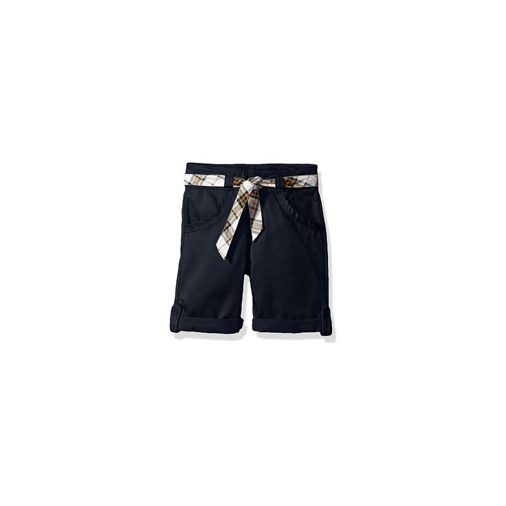 Eddie Bauer Girls' Chino Shorts - Navy 14, Blue