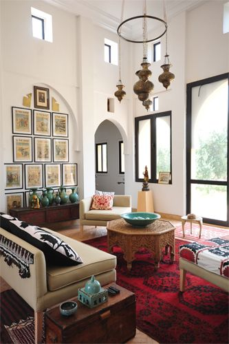 Maryam Montague of My Marrakesh brings Moroccan Souk style to your 600 square feet.Living Rooms, Moroccan Design, Livingroom, Moroccan Room, High Ceilings, Chic Interiors, Moroccan Style, Design Tips, Moroccan Decor