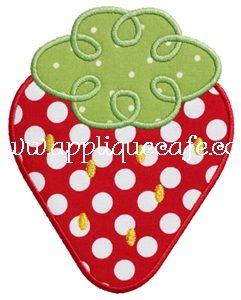 Loopy Strawberry Applique Design