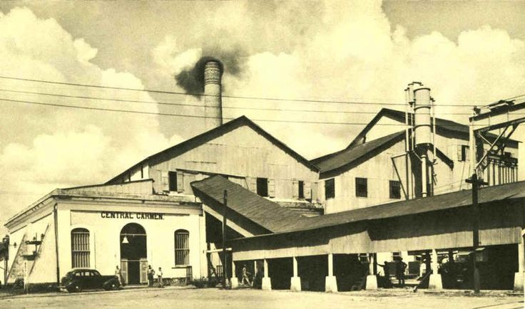 Central Carmen, Vega Alta, Puerto Rico. Operó entre los años 1895 y 1945. Capacidad: 1,400 toneladas por día. Propietarios: Carmen Central Inc. (1895).