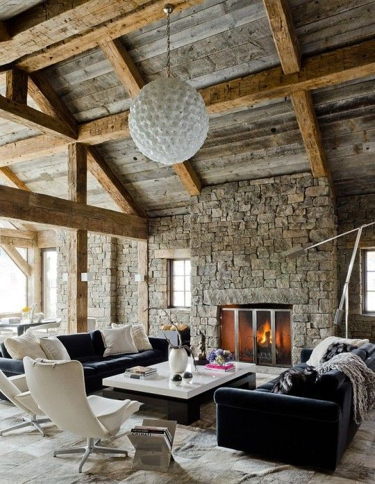 Rustic Residence by On Site Management, situated in Big Sky, Montana.