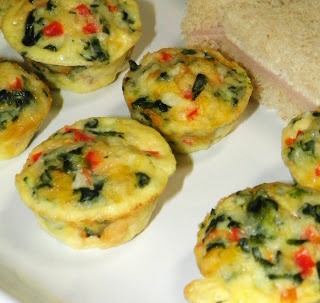 Mini Crust-less Quiches - Around My Family Table
