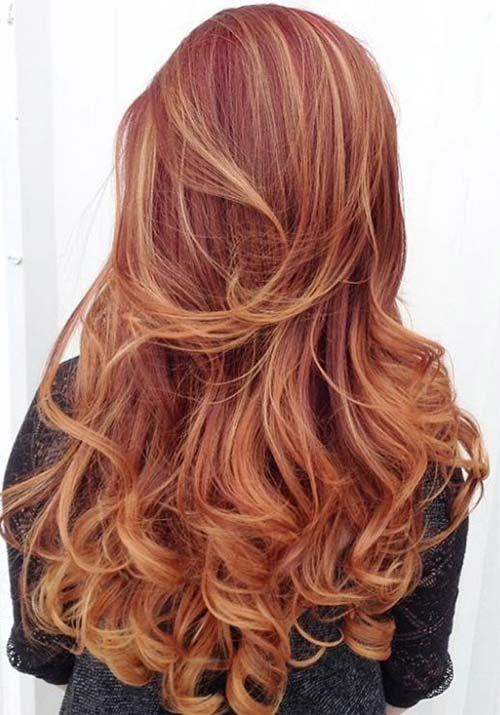 100 Badass Red Haarfarben: Auburn, Kirsche, Kupfer, Burgundhaar #auburn #badass…