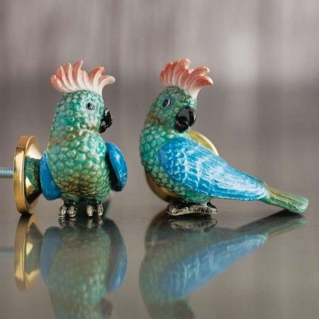 Parrot Ceramic Knob - View All Home Accessories - Treat Your Home - Home Accessories
