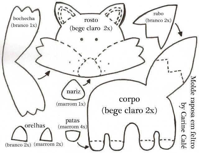 """Personagens de """"O Pequeno Príncipe"""" feitos de feltro com moldes - Dicas pra Mamãe                                                                                                                                                                                 Mais"""