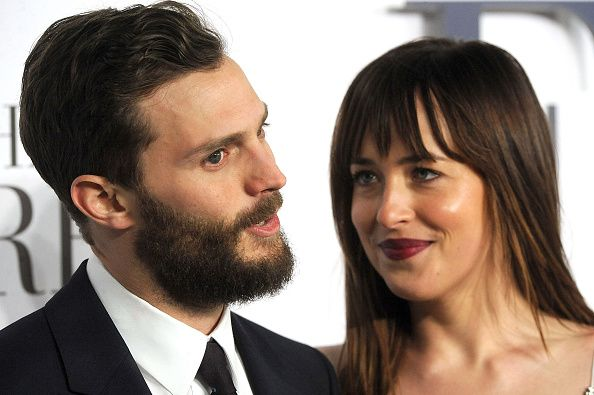 SUN NEWSPAPER OUT MANDATORY CREDIT PHOTO BY DAVE J HOGAN GETTY IMAGES REQUIRED Jamie Dornan and Dakota Johnson attend the UK Premiere of 'Fifty...