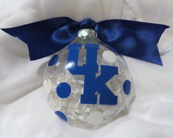 University of Kentucky Glass Christmas Ornament by alissafsmith, $6.00