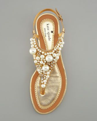 Kate Spade New York Imani Pearl Embellished Sandals. What a gorgeous summer