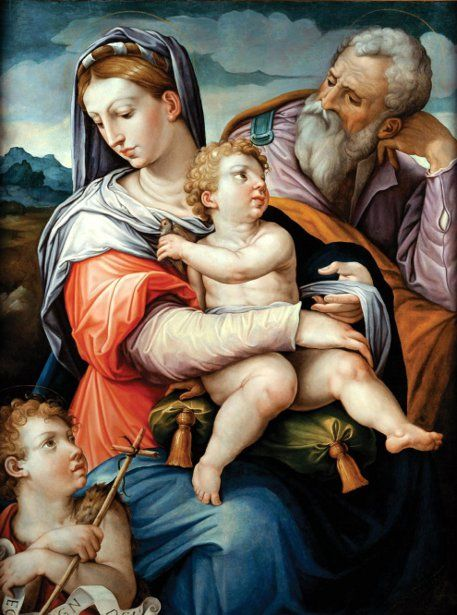 Giorgio Vasari (Italian artist, 1511–1574) Holy Family with John the Baptist