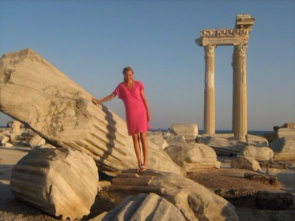 Me in Side, Turkey. Love the ruins! So beautiful and mystic :-)