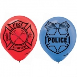 Fire fighter party balloons