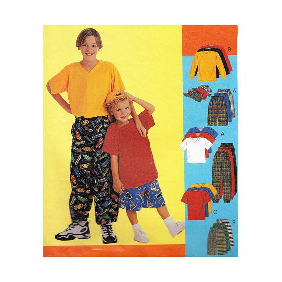 Boys Jogger Pants Shorts T Shirt and Brimmed Cap Easy to Sew