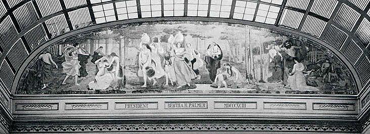 これもメアリー・カサットのシカゴ万博壁画 (1893)。印象派といわれているが、いろいろ作風を変えている。