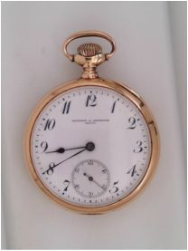 14K gold Vacheron Constantin pocket watch circa 1912 * click for link or to request pricing #vacheron #pocketwatch #santabarbarajewelry #antique #vacheronconstantin