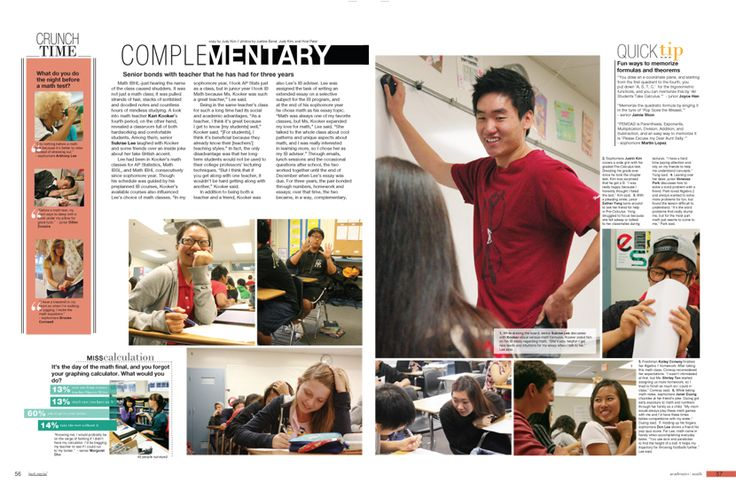 This looks do-able for a few different subjects: math yearbook pages - Google Search