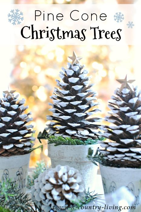 Pine Cone Christmas Trees. So Easy to Make!