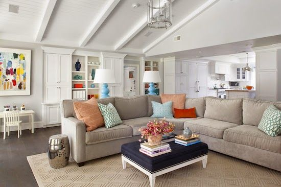 Although mostly white and neutral, this space reads colorful due to the accessories.  Evars + Anderson Interior Design