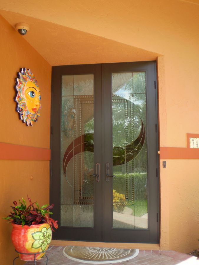 This Punchy Hued Entry Features A Hurricane Impact Resistant Door From SIW  Impact Windows U0026 Doors Manufacturing