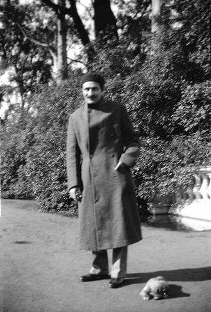 Meher Baba on what is now JFK Dr., Golden Gate Park, SF CA 1/8/35