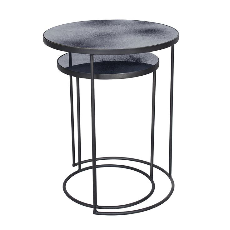 Discover the Notre Monde Nesting Side Table Set - Charcoal at Amara