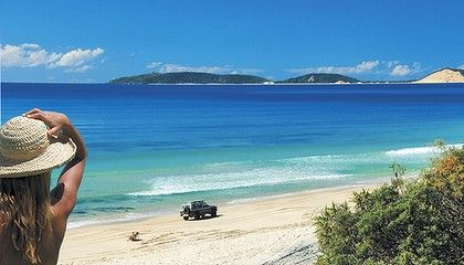 Cooloola Coast - Sunshine Coast.  Blue waters + white sand = bliss! #airnzsunshine