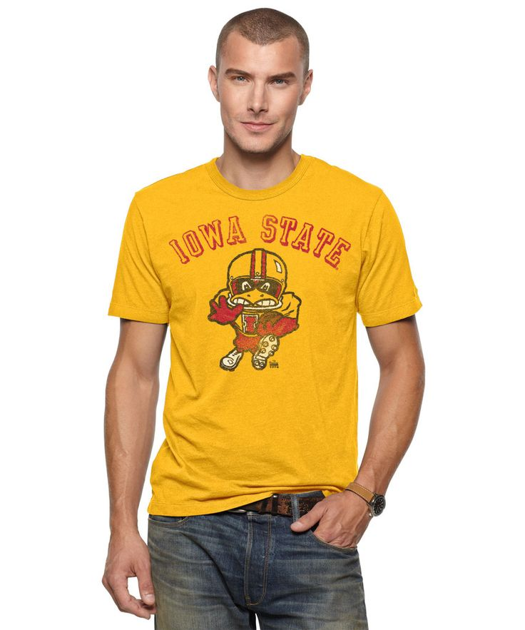 Iowa State Football T-Shirt. Vintage style, super comfortable. On sale: $24.99. Free shipping. #IowaState #CollegeFootball