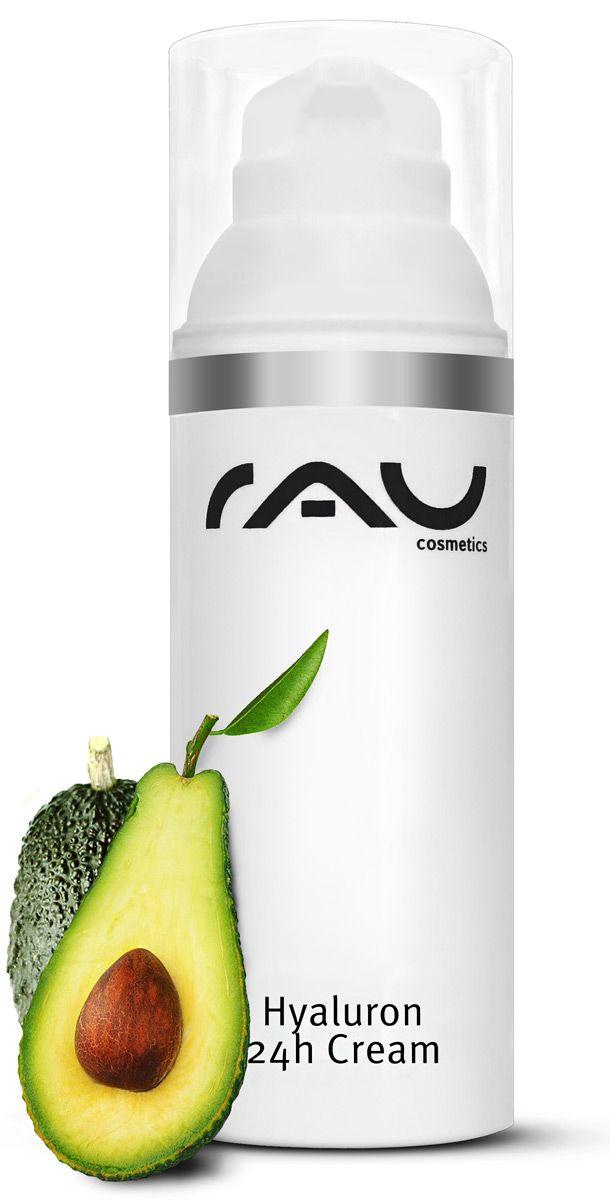 """Onze """"RAU Hyaluron 24h Cream"""" is een compacte hyaluroncrème voor de droge en veeleisende huid. Deze crème bevat als belangrijkste ingrediënt zowel laagmoleculaire als ook hoogmoleculaire hyaluronzuren, dat betekent vochttoevoer pur sang http://www.rau-cosmetics.nl/actieve-stoffen-info/avocado-olie/52/rau-hyaluron-24h-cream-50-ml-hyaluroncreme-met-hyaluronzuur-shea-butter-avocado-olie-squalaan #huidverzorging #huid #cosmetics #skincare #hyaluron #hyaluronzuur #avocado #squalaan #beauty"""