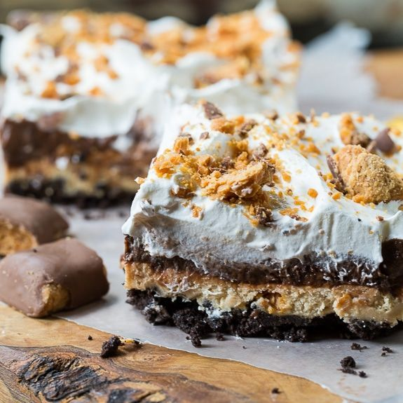 Butterfinger Chocolate and Peanut Butter Lush via @FMSCLiving