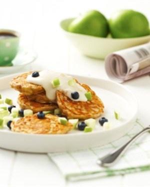 Apple and Cinnamon Muesli Pikelets