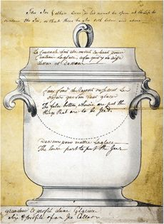 This drawing made for the Leeds Pottery shows the anatomy of an ice cream pail, with its hidden liner.