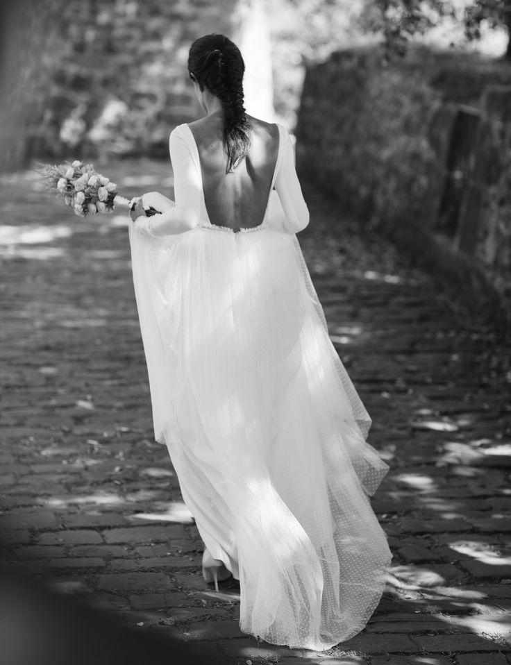 Aránzazu, una novia con un vestido maravilloso diseñado y confeccionado a medida