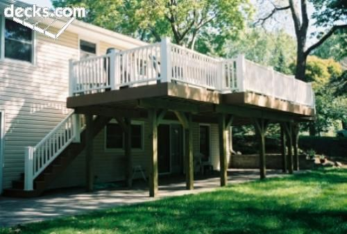 1000 images about raised ranch ideas on pinterest split for Raised ranch deck ideas
