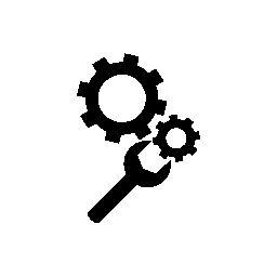 Ruedas dentadas variante con herramienta de llave inglesa
