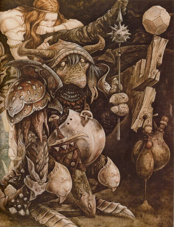 Brian Froud's concept art for Labyrinth