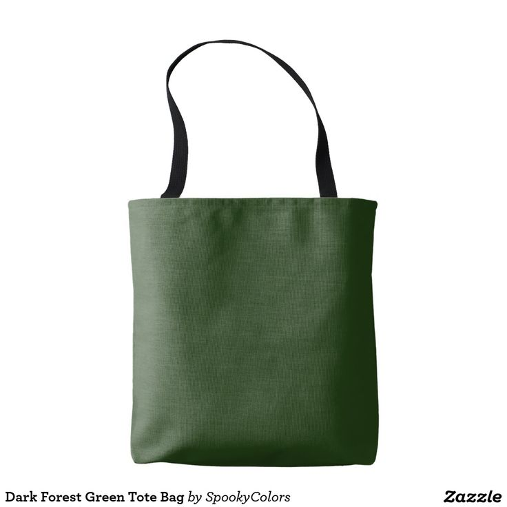 Dark Forest Green Tote Bag