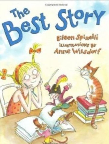 The Best Story by Eileen Spinelli. Use as a springboard to begin sharing the important topic of Generating Ideas for Our Own Writing...The Best Story, about a little girl on a journey to find her own identity as a writer. She is journeying into the world of writing and gets advice from different characters in the story about what good writing should have...she ultimately comes to discover that writing comes from your heart, from inside you.