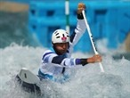 David Florence competes in the Canoe Single Slalom