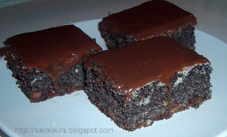 Prajitura cu mac: Dessert Recipes, Romanian Cakes, Praji Mac
